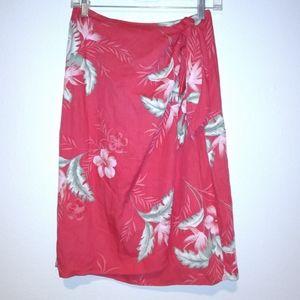 Caribbean Joe Floral Wrap Skirt